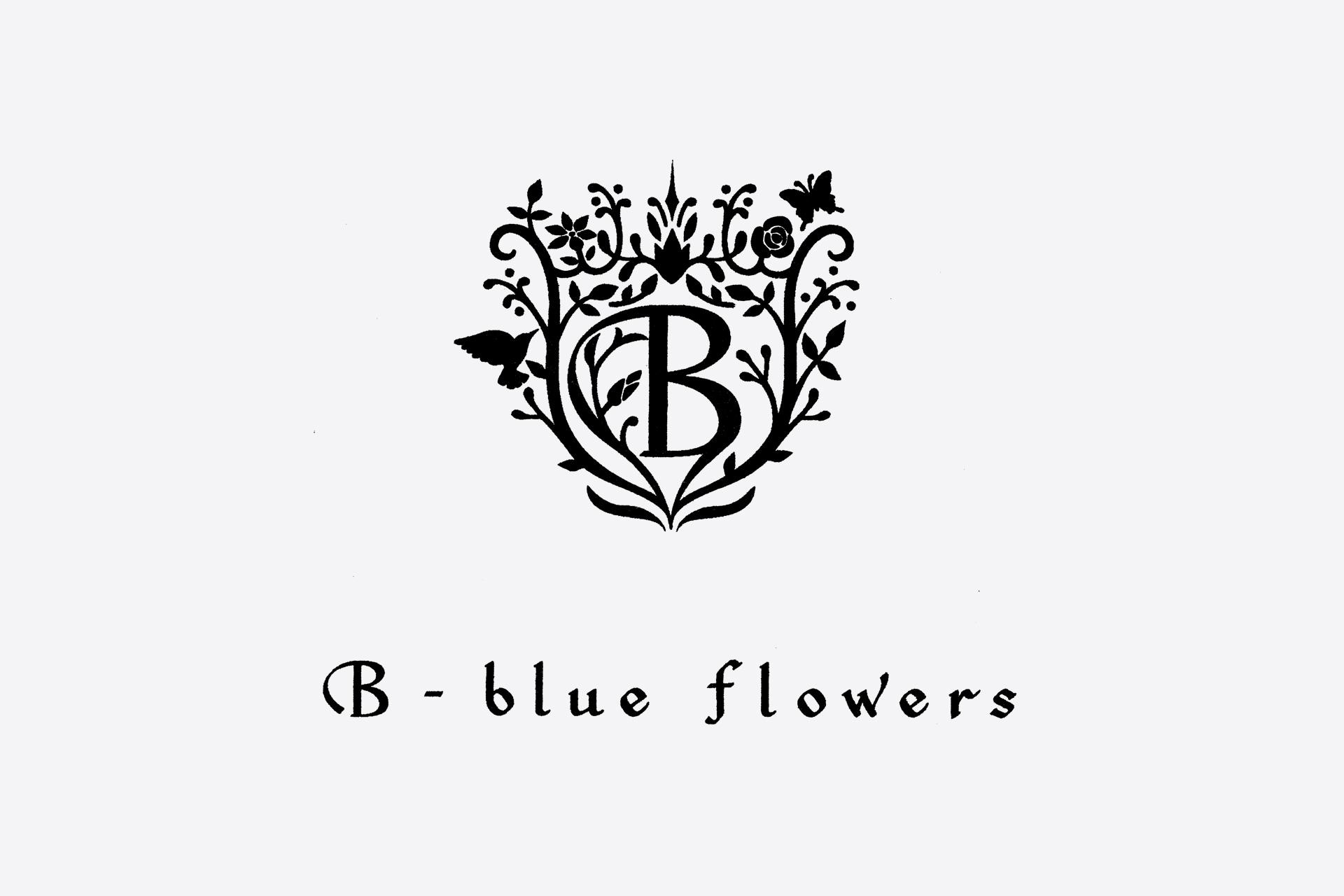 B-blue flowers